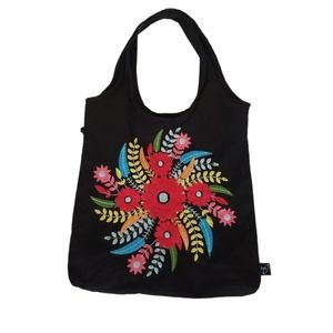 Ion embroidered tote bag